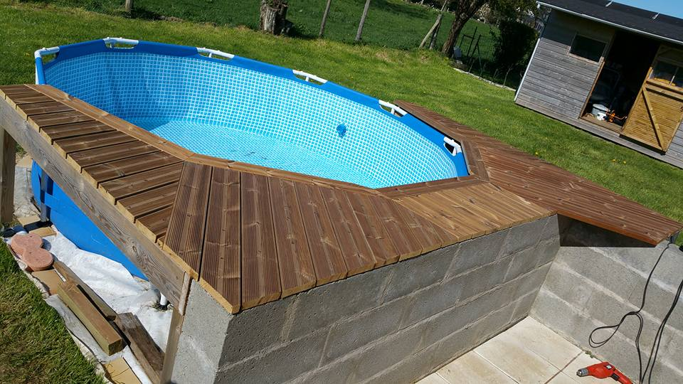 Habillage piscine autoport intex piscines plages for Piscine tubulaire bois
