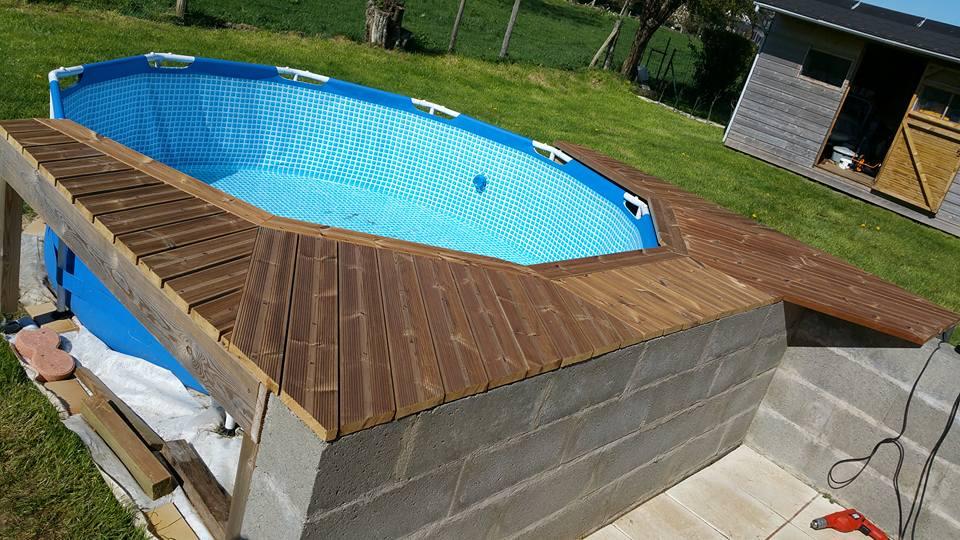 Habillage piscine intex rectangulaire