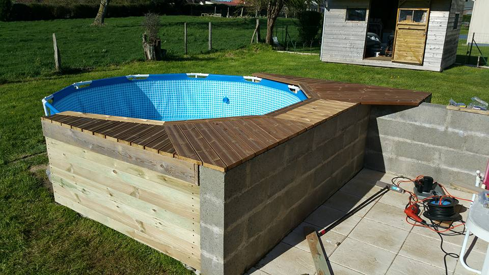 Habillage piscine autoport intex piscines plages - Habillage piscine hors sol intex ...