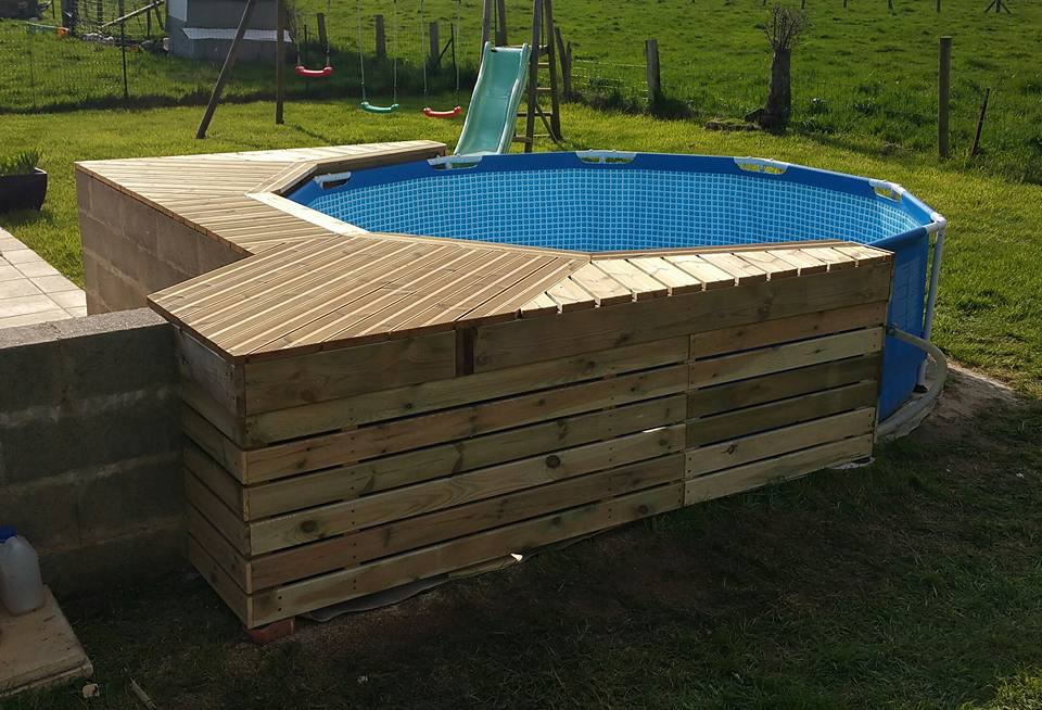 habillage piscine autoporte intex piscines plages With attractive terrasse en bois pour piscine hors sol 7 installer une mini piscine