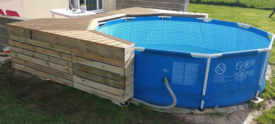 Habillage piscine autoport intex piscines plages for Piscine surelevee